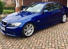 Blue BMW 3 series MSPORT. Great and Reliable car. Full black leather.