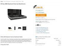 88 Key Piano Keyboard ABS flight case. Brand new in box unused. NEW £194