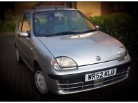 Fiat Seicento 1.1Sx Petrol 3dr Hatchback Silver Manual Smooth Drive Mot Blue Interior