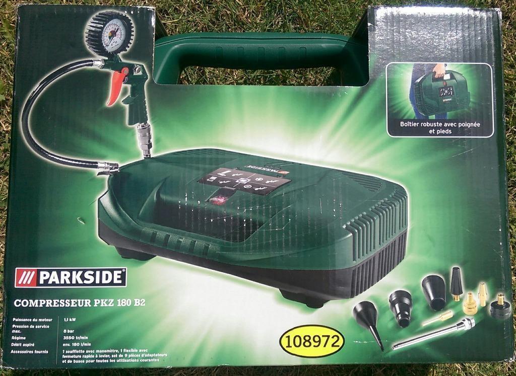 Parkside Portable Air Compressor Pkz 180 B2 Brand New
