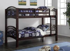 LORD SELKIRK FURNITURE - Brand New Shanghai Bunk Bed in Espresso - $299.*