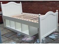 single-size ASPACE wooden bed frame. with under-storage. Very good condition and quality.