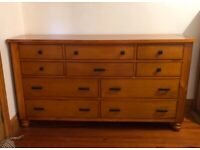 Furniture - tall chest of drawers, dresser with mirror and bedside tables