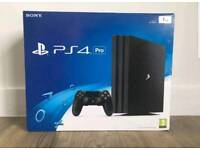 PS4 Pro Console. Brand new in sealed box. Unwanted gift.