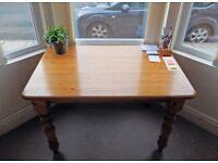 Varnished Pine Table/Desk