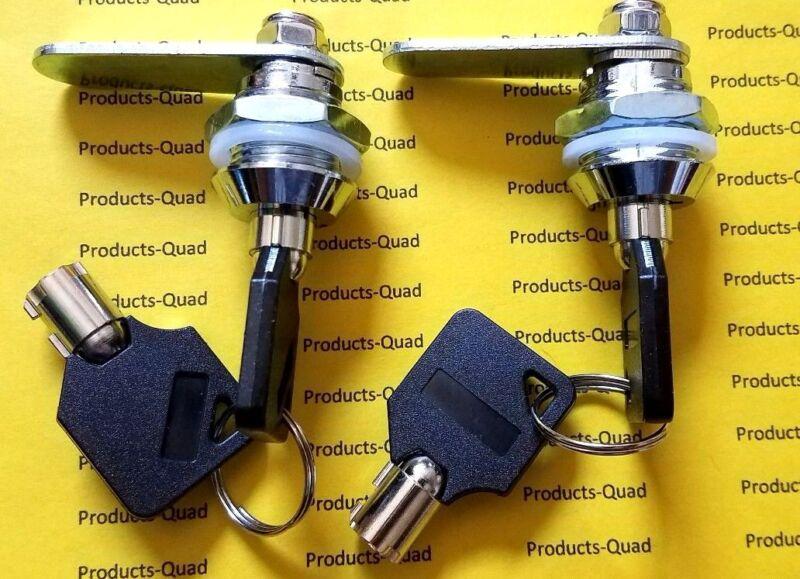 "2 Keyed alike Tubular Cam Lock 5/8"" for RV, Camper, Drawer Cabinet Toolbox"