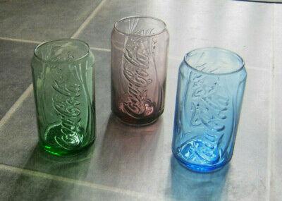 Vintage Coca Cola Mcdonalds Can Glasses X3 Good condition