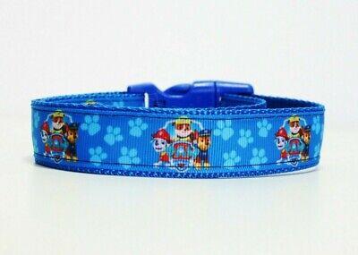 Paw Patrol Dog Collar (Paw Patrol Dog Collar or Matching Lead or Seat Belt Puppy Leash Chase)