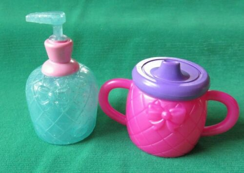 Little Mommy Baby DOLL PRINCESS & THE POTTY SIPPY + SOAP  PUMP LOT FISHER PRICE