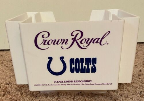 Crown Royal Indianapolis Colts Napkin Straw Holder White Bar Caddy