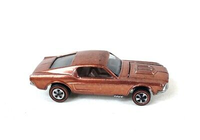 Hot Wheels 1968 Redline Custom Mustang - U.S. Brown car