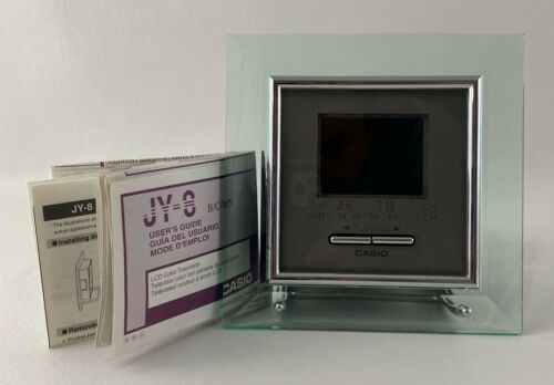 """Casio LCD Color Frame 2.3"""" TV with Manual, Model: JY-8B - Made in Japan 1998"""
