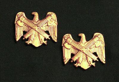 US ARMY NATIONAL GUARD BUREAU OFFICER COLLAR BRANCH INSIGNIA; REGULATION PAIR