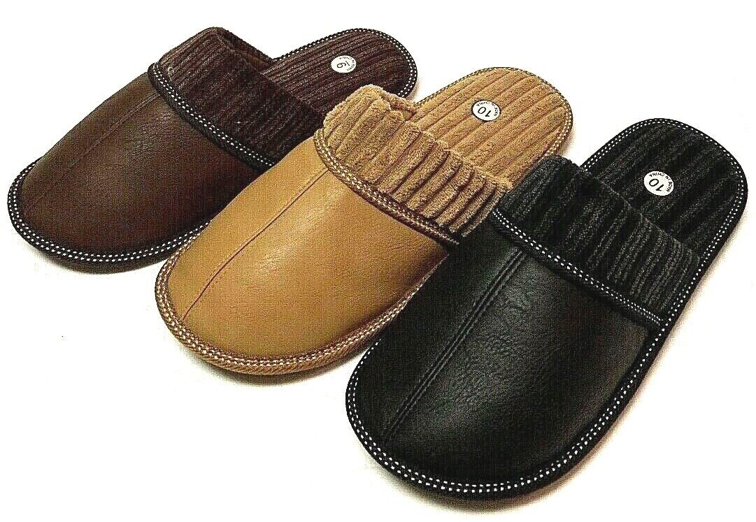 Men Classic PU House Slipper with Rubber Bottom Excellent Fl