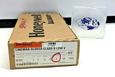 Red Size 10 11 Salisbury Honeywell E011r10 Rubber Linemen Electrical Gloves