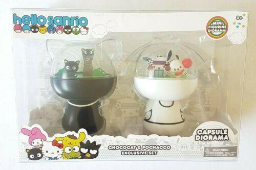 Hello Sanrio Pochacco & Chococat Mini Figurine Diorama Exclusive Set NEW