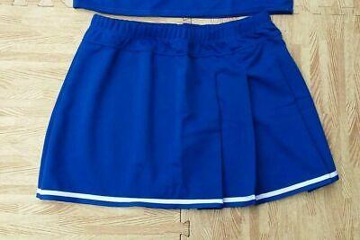 ee85d8509c ADULT PLUS SIZE ROYAL BLUE ELASTIC WAIST Pleated Cheerleader Uniform Skirt  36-40
