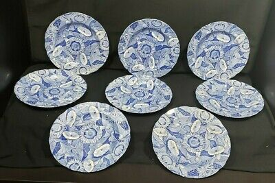 """The Spode Blue Room Collection 'Sunflower' Collector Plate England 9-1/4"""" (8)"""