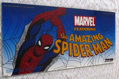 """Very Rare Marvel's """"The Amazing Spiderman"""" Slot Machine Belly Glass"""