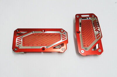 Red Aluminum Sports Pedal Pads Covers for Automatic shift Accelerator and Brake