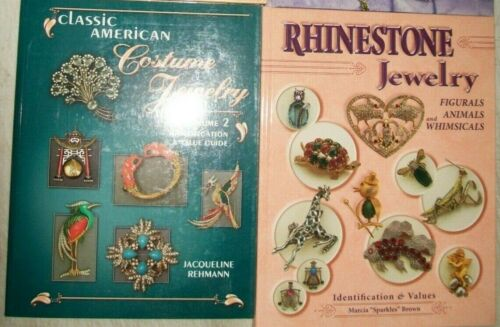 2 Vintage Jewelry PRICE GUIDE Collector Books Ring Necklace Earrings Rhinestone