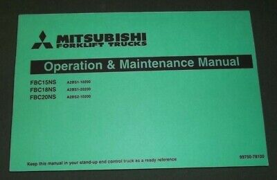Mitsubishi Fbc15ns Fbc18ns Fbc20ns Forklift Operation Maintenance Book Manual