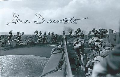 GENE IACONETTI Signed Photo WW II AUTOGRAPH COA WORLD WAR 2 IWO JIMA PACIFIC