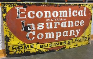 Large Vintage Economical Mutual Insurance Sign