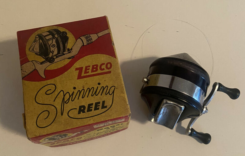 Vintage Zebco 33 Reel in Box + Papers Spinning Reel Tulsa Oklahoma USA