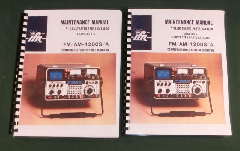 "IFR FM/AM 1200S/A COMMUNICATIONS MONITOR SERVICE MANUAL w/11x17"" Schematics!"