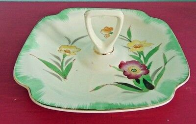Ceramic Candy Dish With Yellow and Pink Flowers and Green Paint Design](Flowers And Candy)