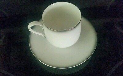 Genuine Sango China-Grey Mist 6175 Flat Cup and Saucer-Japan