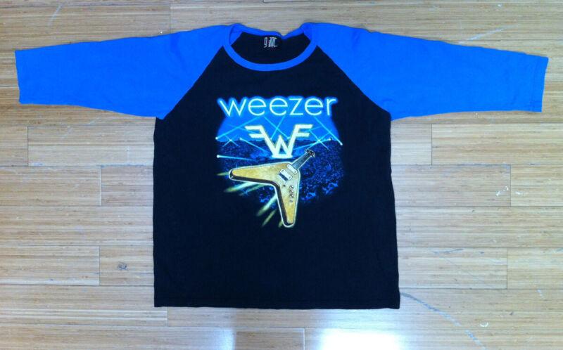 WEEZER 2005 Vintage Original Concert Tour 3/4 Sleeve T-Shirt Jersey