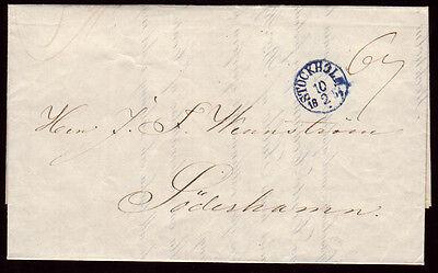 Schweden Brief STOCKHOLM 18.2.1854 n.Söderhamm,voller Inhalt