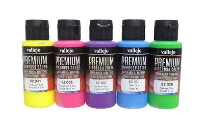 Vallejo Airbrush Premium: Fluo Colors Set (5x60ml)