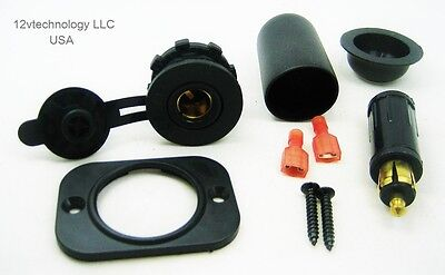 Waterproof 12V Accessory Panel Dash Power Socket & Plug Jack BMW Powerlet Hella