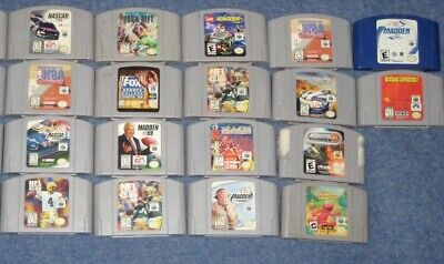 VIDEO GAMES LOT: NINTENDO 64  N64 - CARTRIDGES ONLY  (G7)