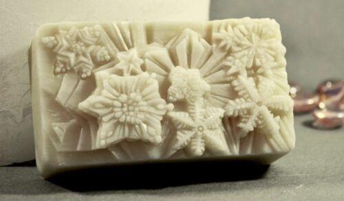 SNOWFLAKE SILICONE MOLD soap wax resin plaster clay BATH BOMB