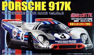 Fujimi RS-84 1/24 Model Kit Team Martini Porsche 917K Sebring 12Hr'71 w/PE Parts