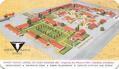 Ranch Lodge (GHOST RANCH LODGE Tucson, Arizona Highway 84 Roadside ca 1950s Vintage Postcard)