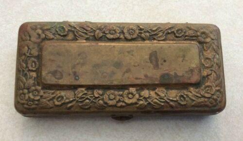 Vintage Antique Gillette Traveler Brass Safety Razor Travel Shaving Kit