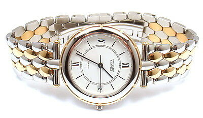 AUTHENTIC VCA VAN CLEEF & ARPELS 18K GOLD STAINLESS STEEL CLASSIQUE QUARTZ WATCH