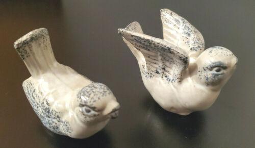 Vintage Schmid Bros Birds Japan Ceramic 2 Figurines