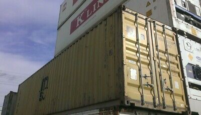 Used 20 Dry Van Steel Storage Container Shipping Cargo Conex Seabox Charlotte