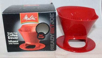 Melitta Plastic Ready Set Joe Single Cup Coffee Brewer Filter Infuser Red 109335 (Coffee Filters Melitta Single Cup)