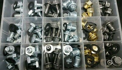 120 pcs OIL DRAIN PLUG ASSORTMENT 60 PIECES Kit with 60 Washers 6 sizes 120pcs