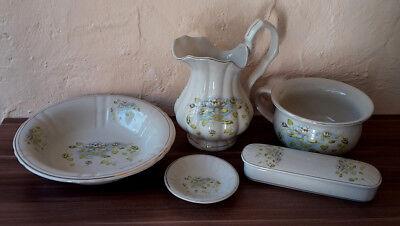 Stilarts Waschtischgarnitur Waschset Badmöbel Porzellan Lavabo antik alt