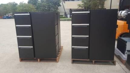 BLACK FOUR DRAWER FILING CABINET storage office work home