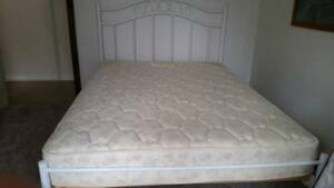 Double Bed frame with mattress. SOLD PENDING PICK UP.