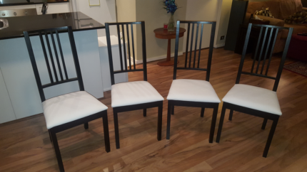 6 White Dining Chairs Dining Chairs Gumtree Australia Perth